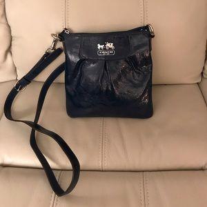 Coach Navy Patent Leather Crossbody Bag